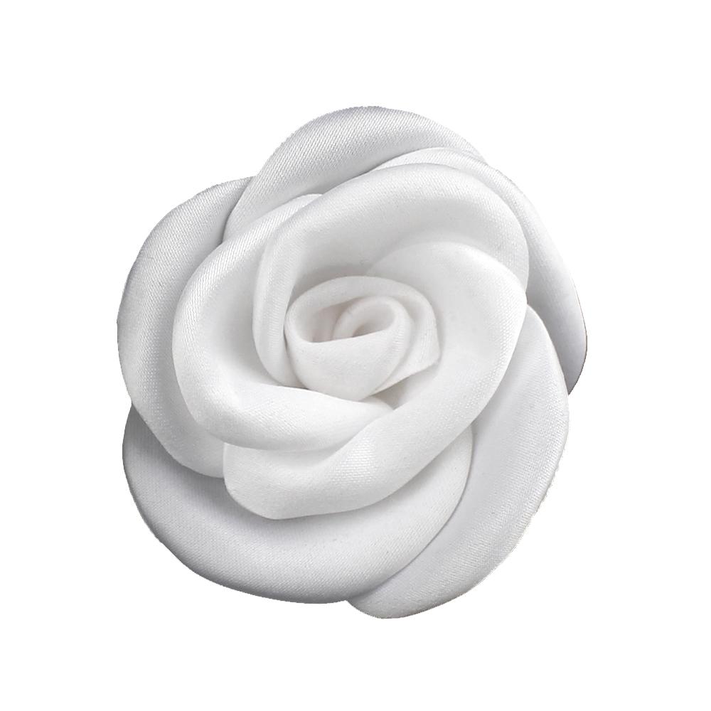 Flor de raso 5 5 cm blanco