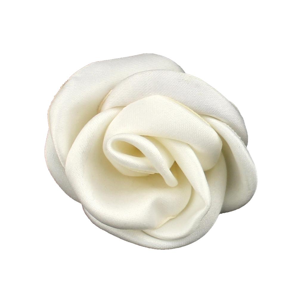 Flor de raso 5 5 cm crudo