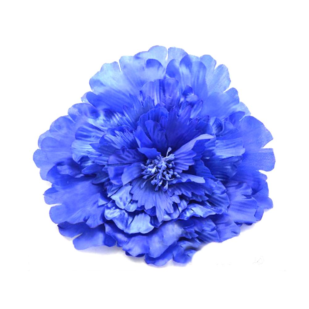 Flor de seda 20 cm azul klein