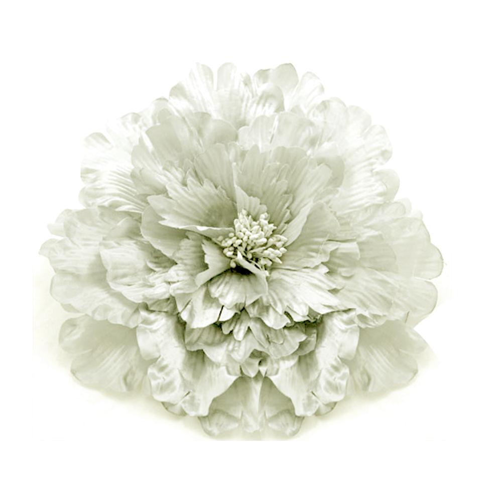 Flor de seda 20 cm crudo