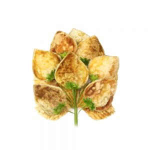 Flor fresa 18×10 cm beige tostado
