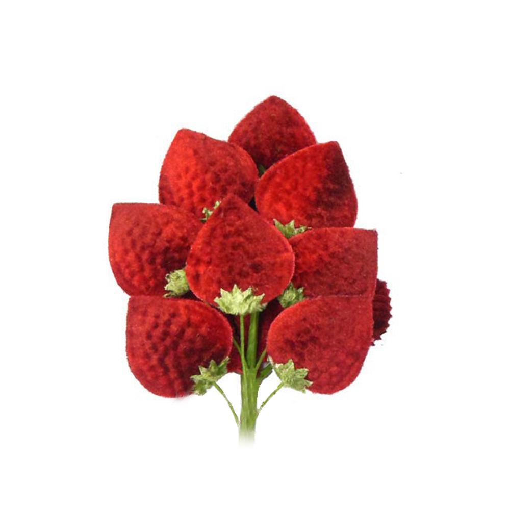 Flor fresa, 18×10 cm rojo