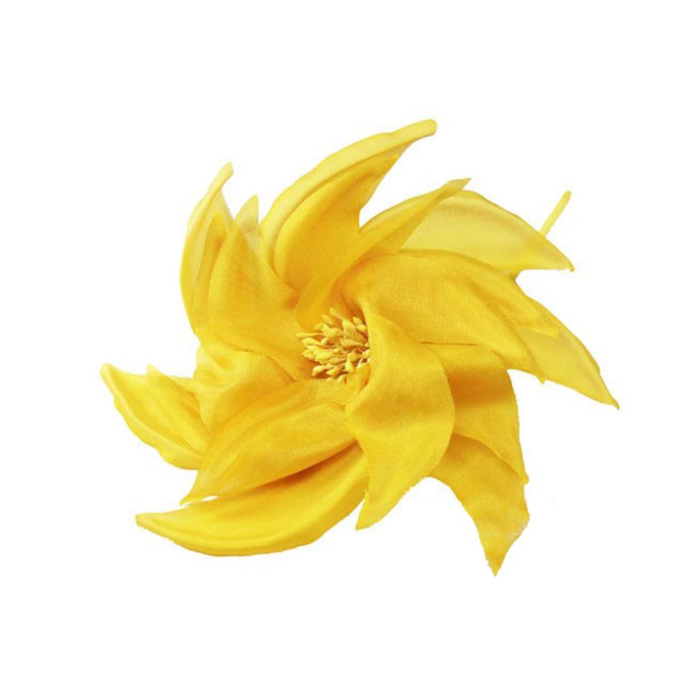 Flor molino 14 CM amarillo