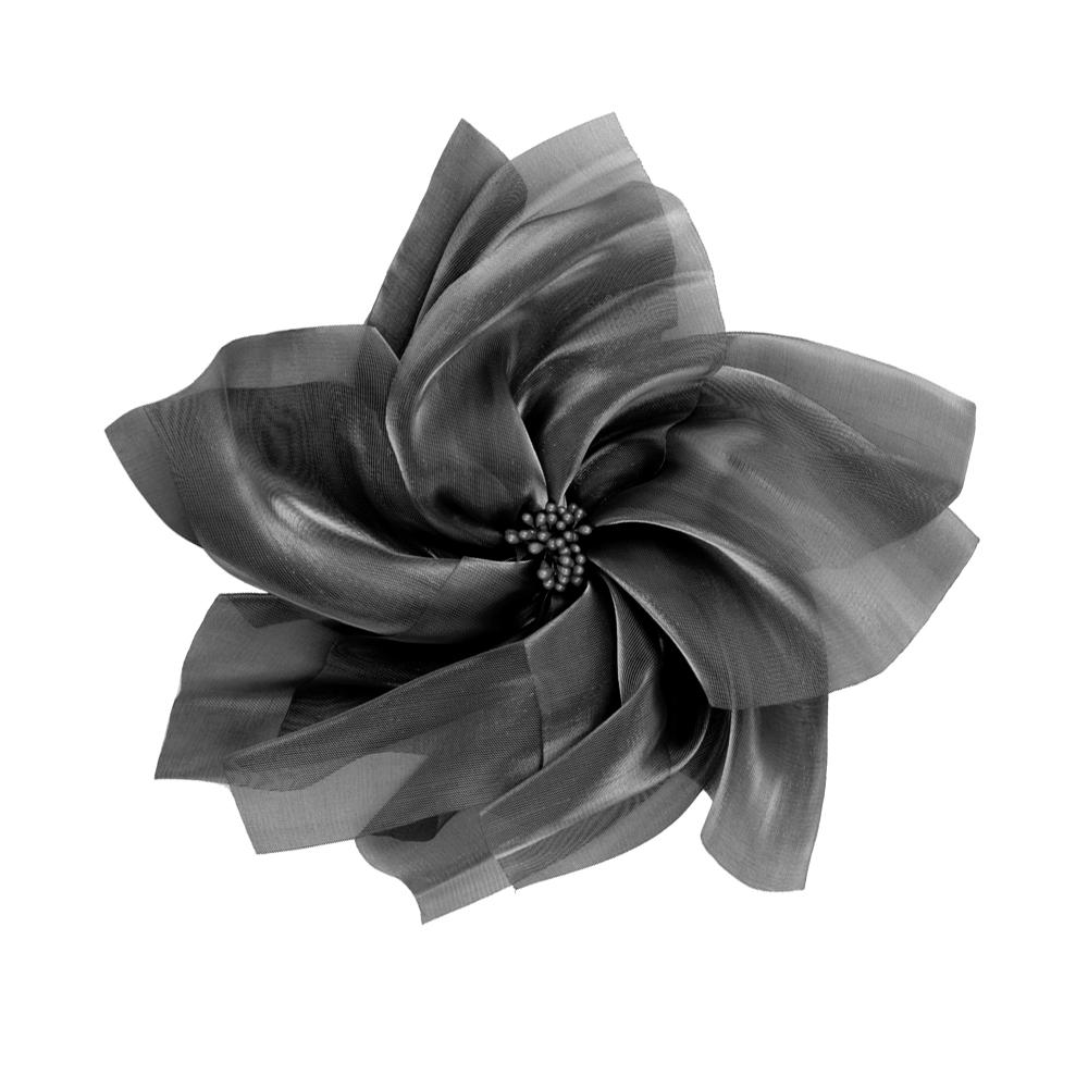 Flor organza XXL NEGRO