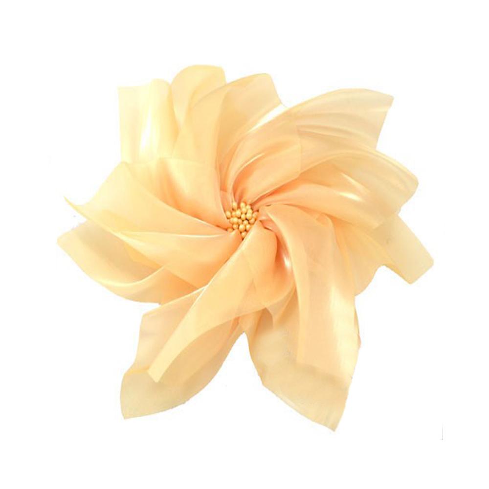 Flor organza XXL beige tostado