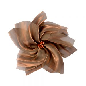 Flor organza XXL bronce