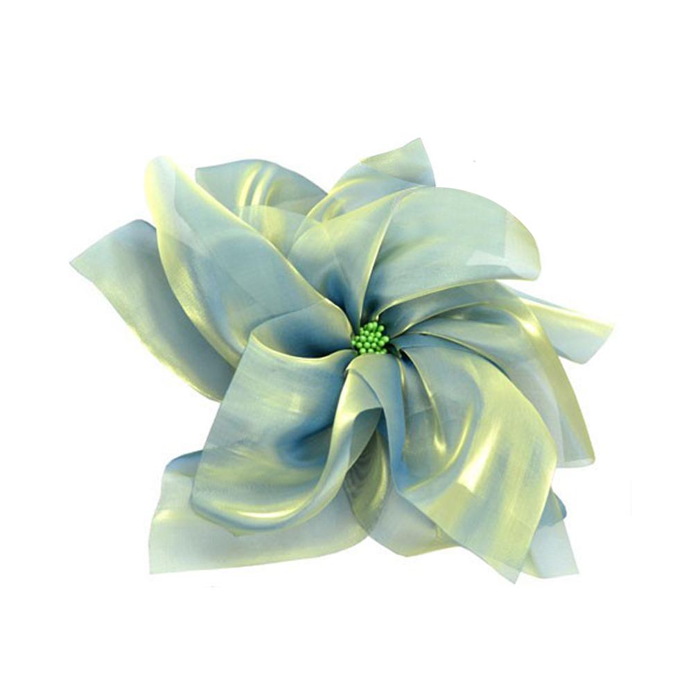 Flor organza XXL verde mar