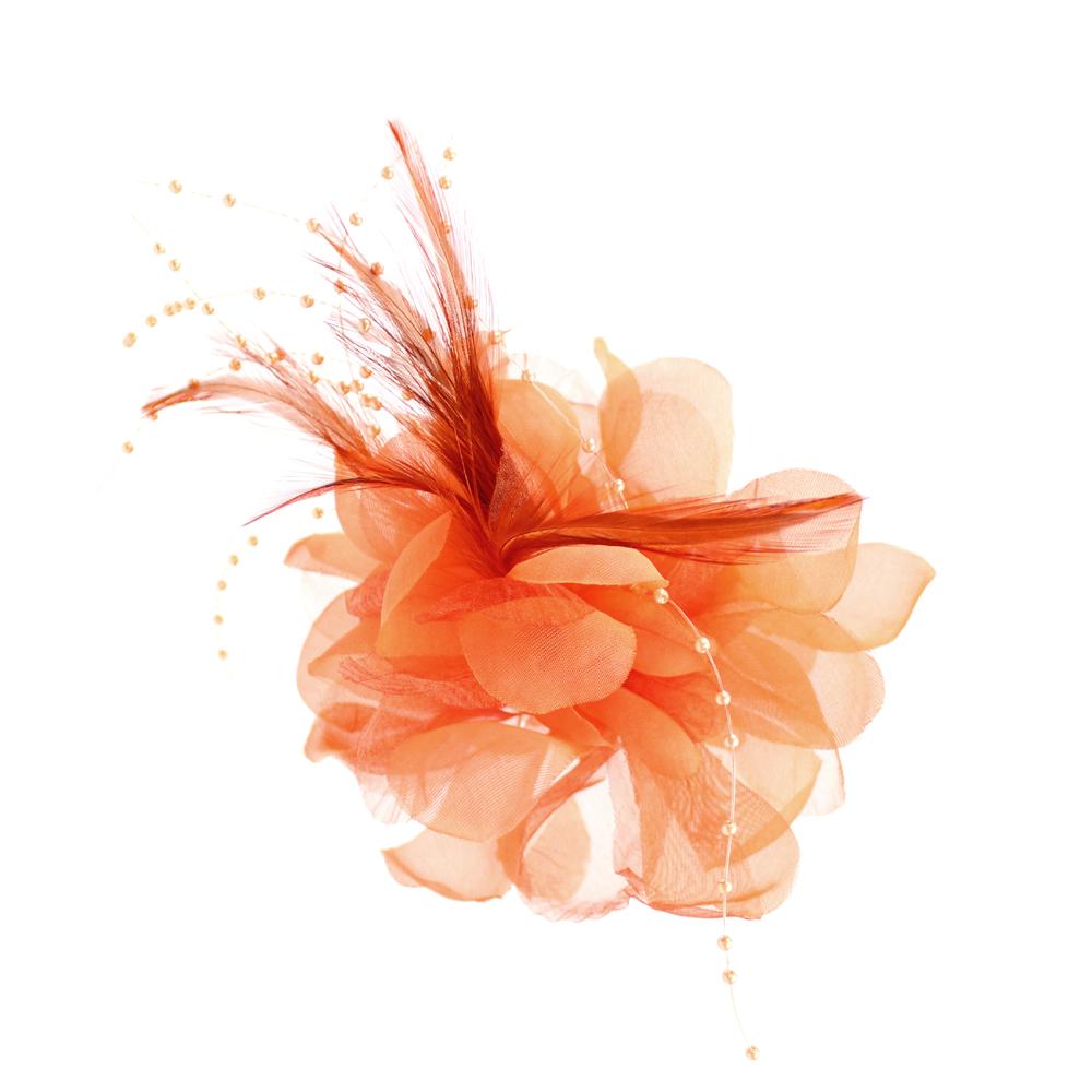 Flor perla 10 cm NARANJA