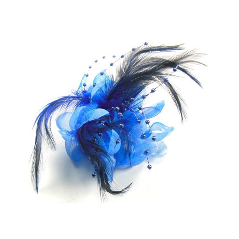 Flor perla 10 cm azul klein