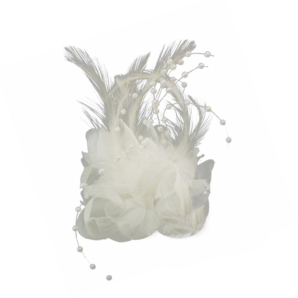 Flor perla 10 cm blanco