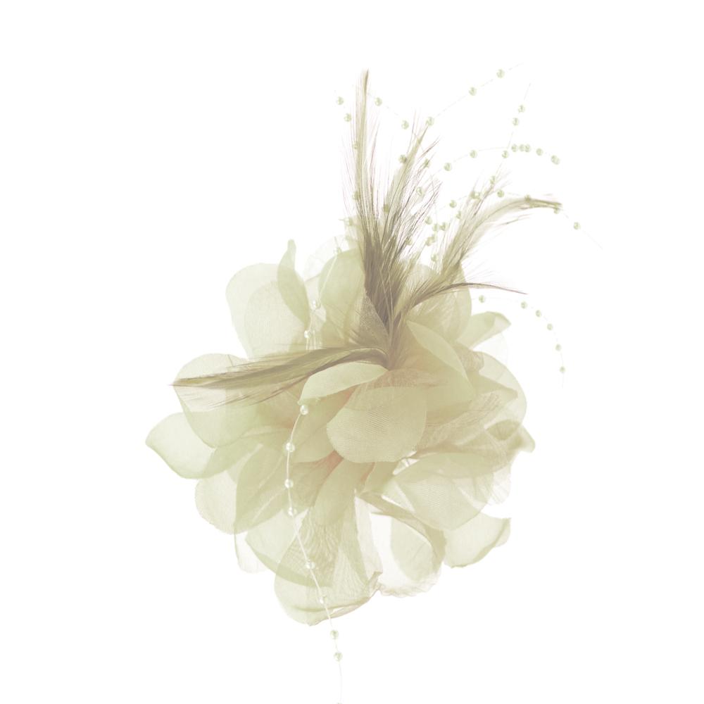 Flor perla 10 cm crudo