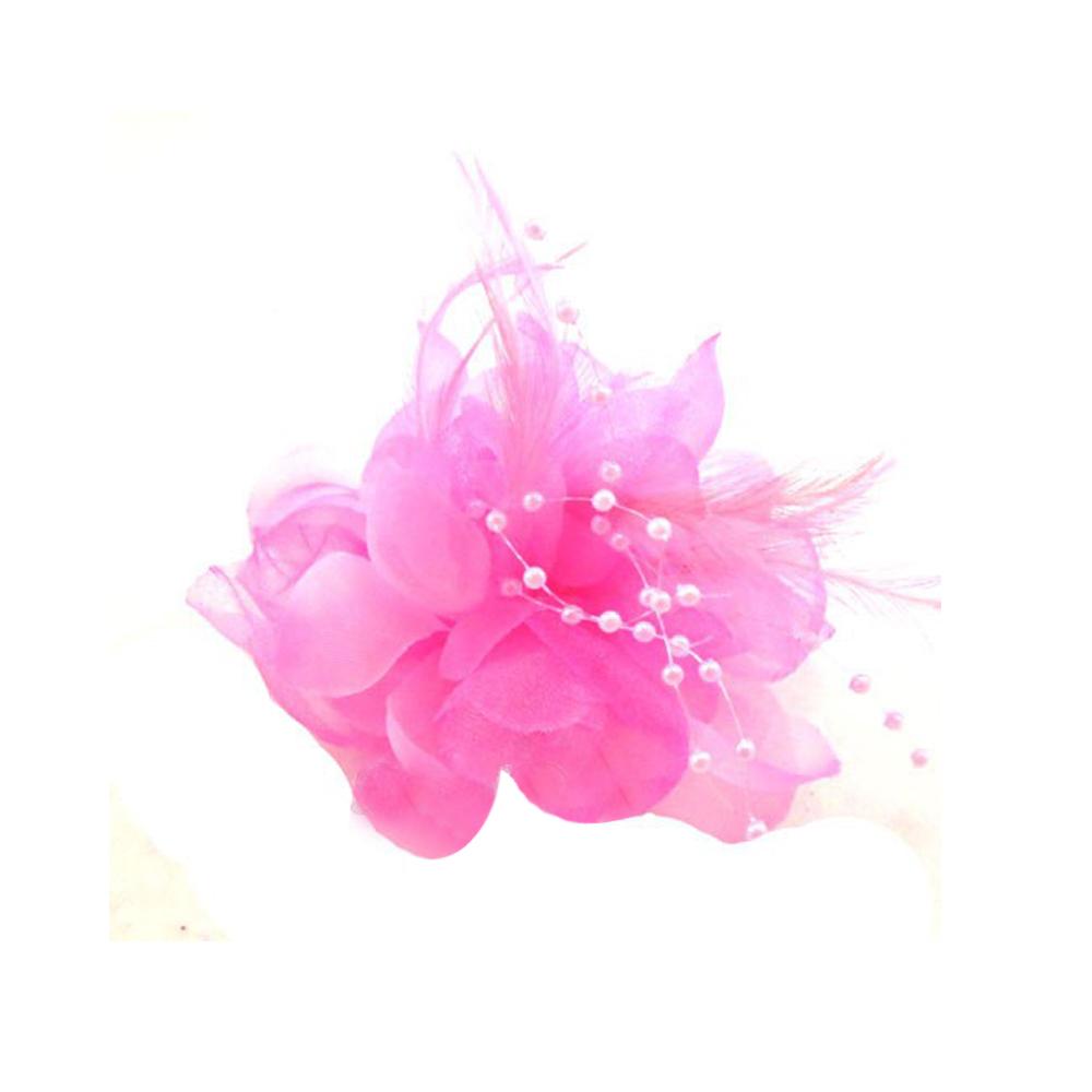 Flor perla 10 cm fucsia