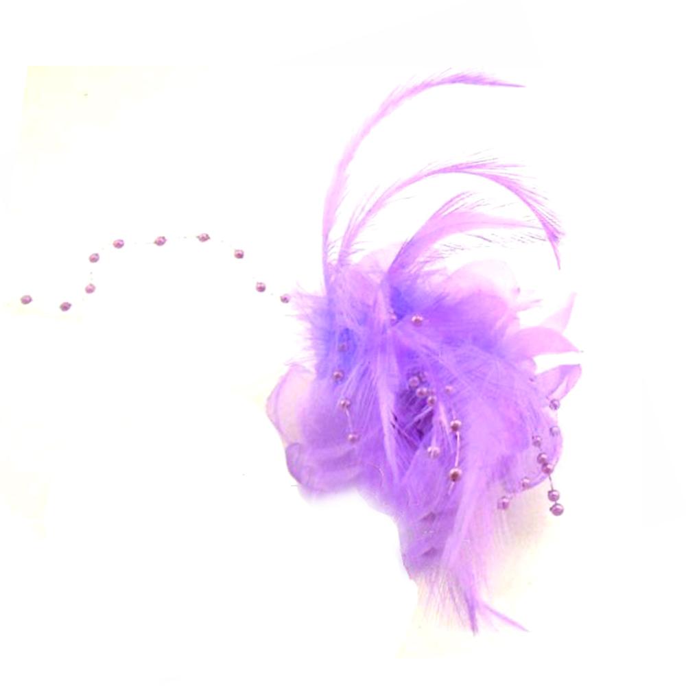 Flor perla 10 cm lila