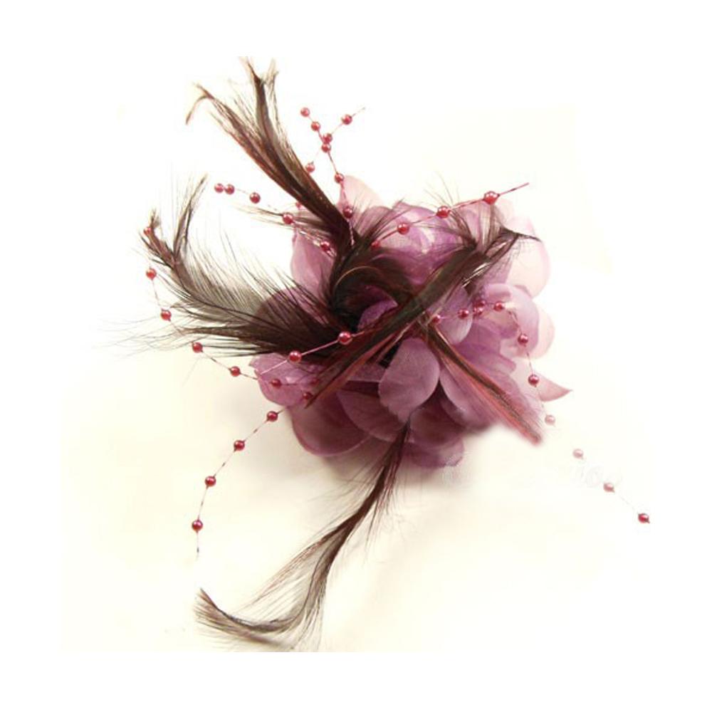 Flor perla 10 cm malva