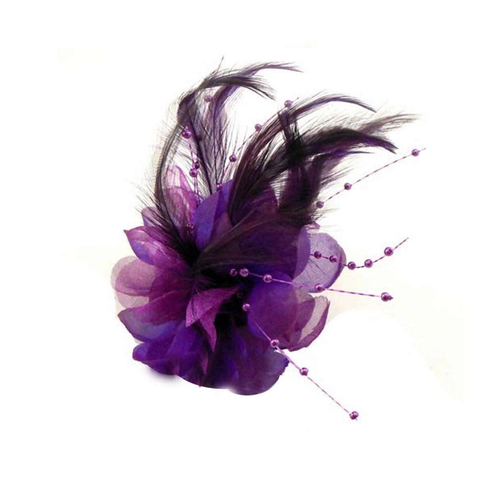 Flor perla 10 cm morado