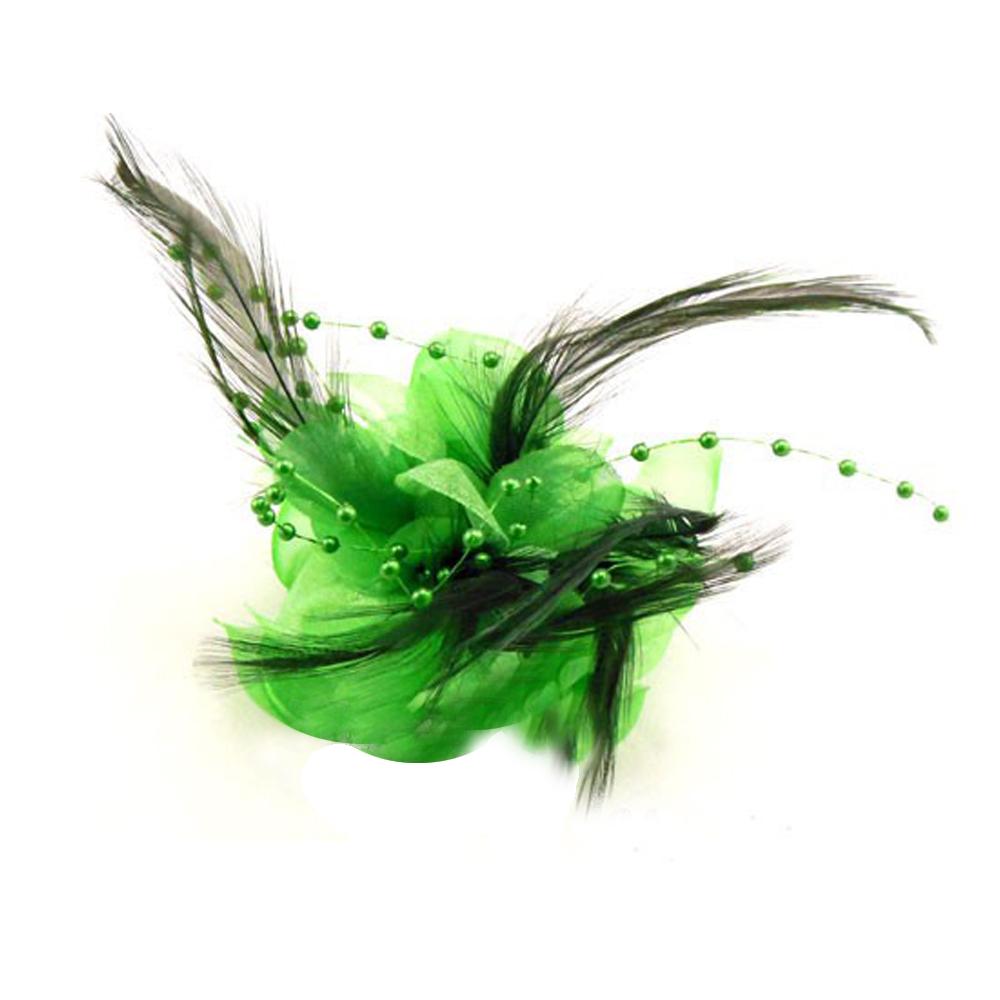 Flor perla 10 cm verde jungla