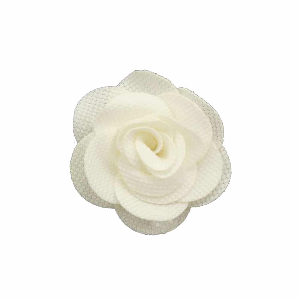 Flor pique 6 CM blanco