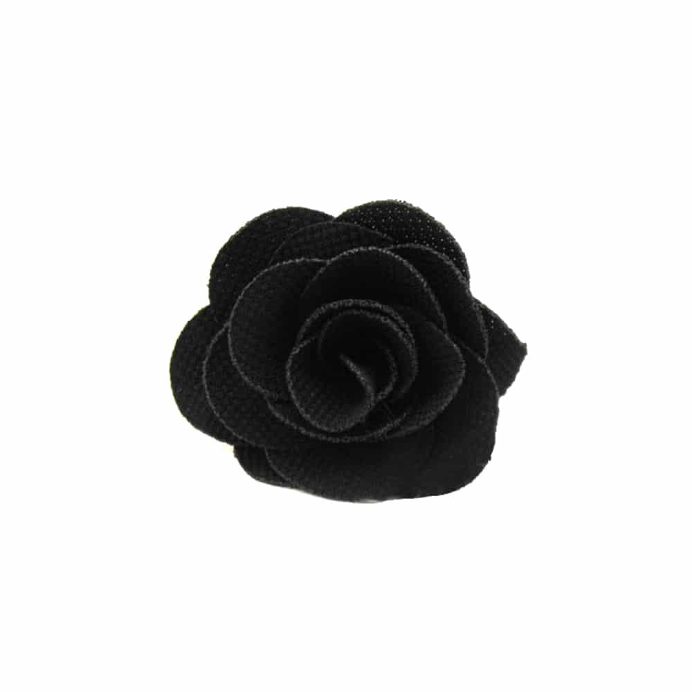Flor pique 6 CM negro