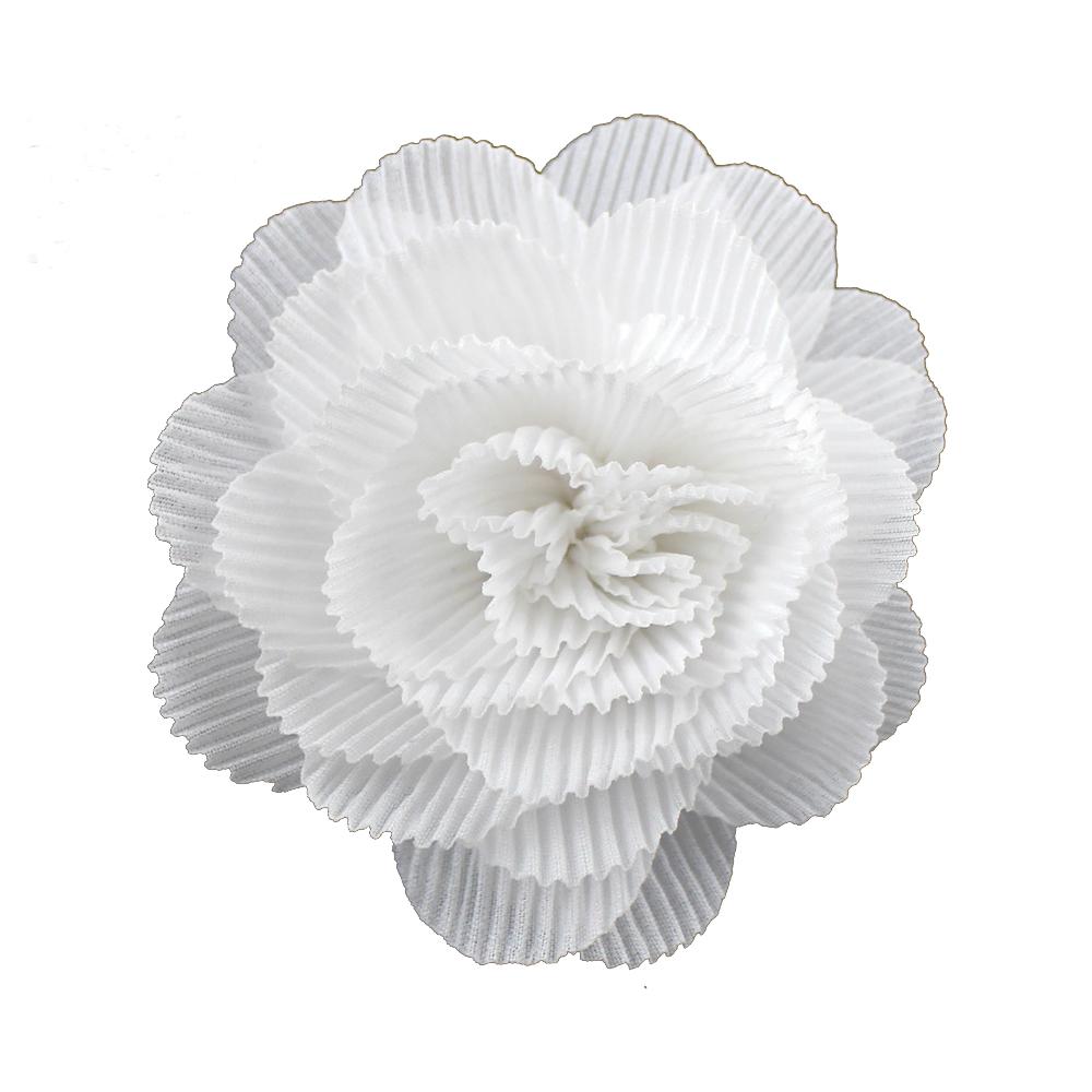 Flor plisada 8 CM BLANCO