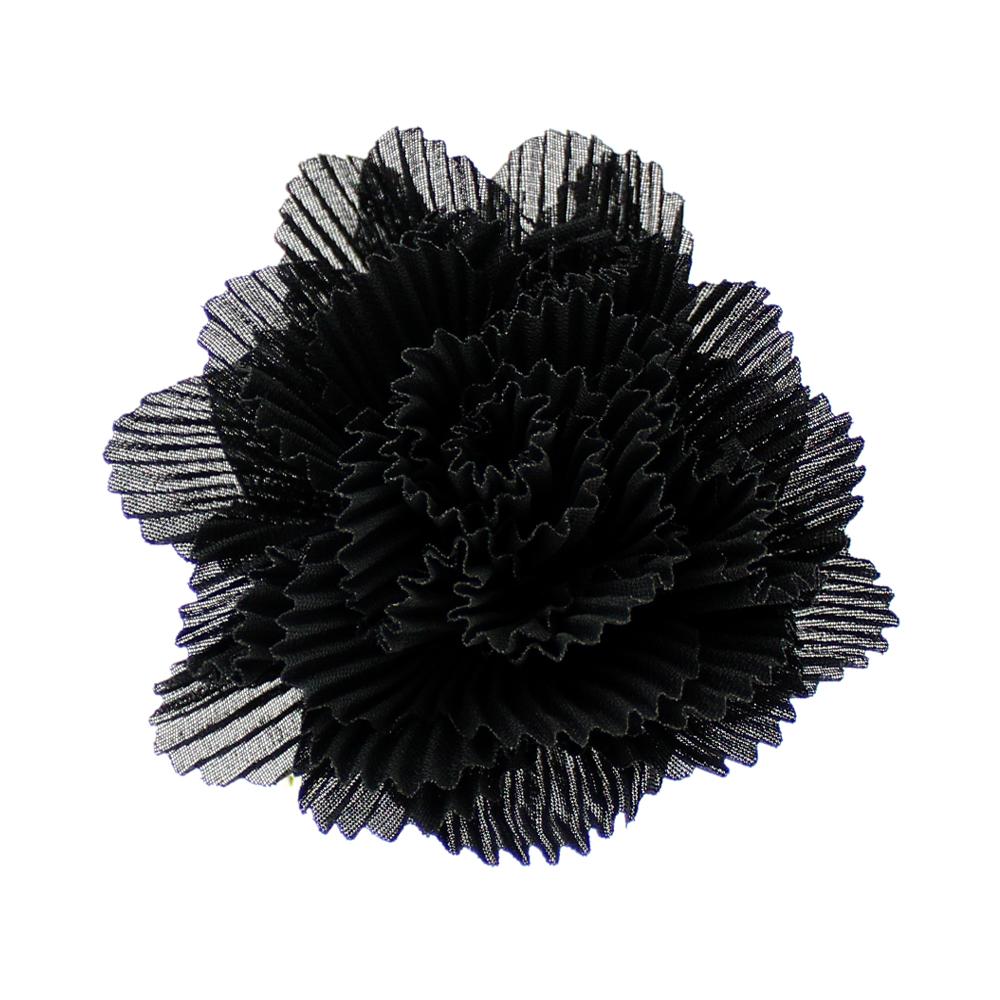 Flor plisada 8 CM ROSA NUDE