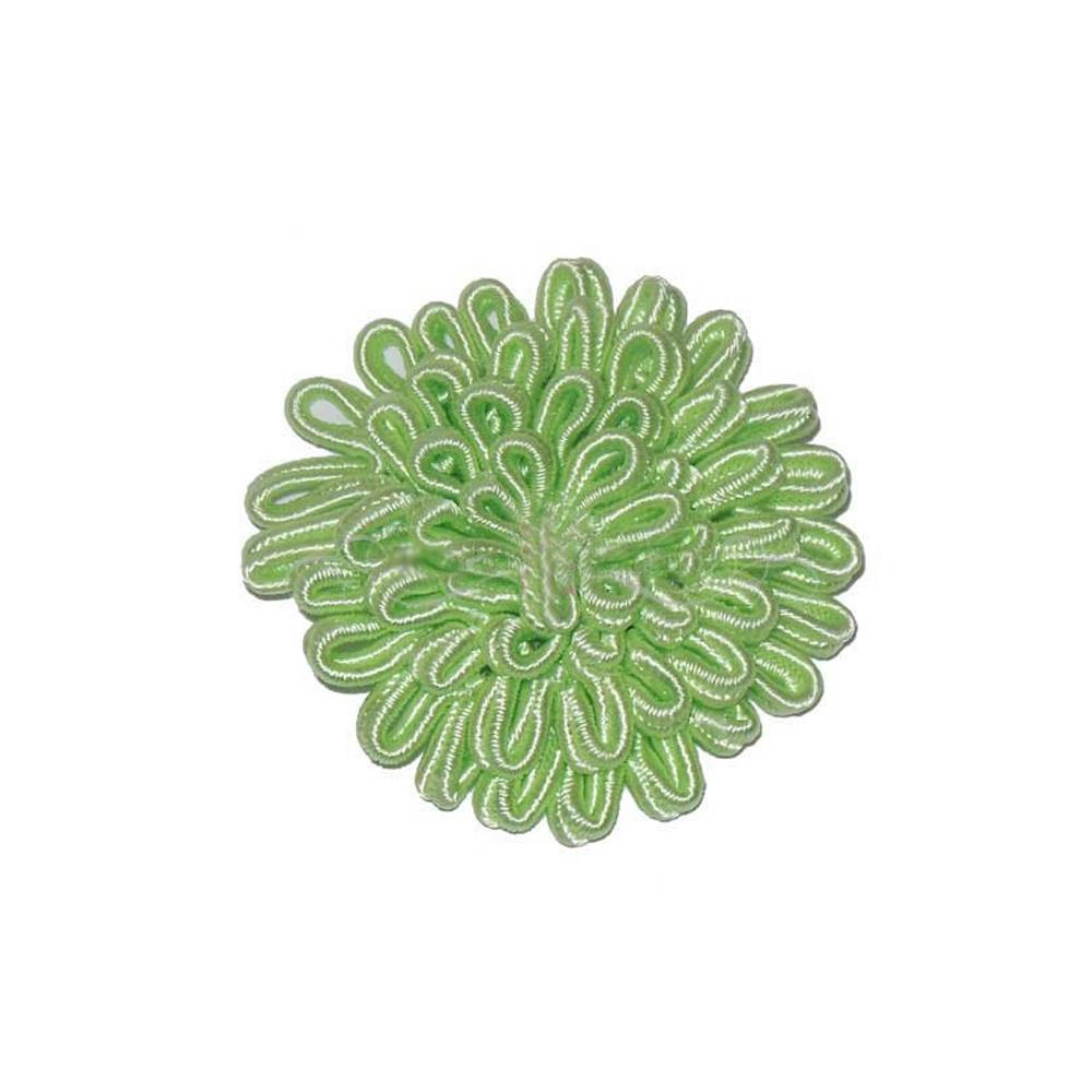 Flor termoadhesiva grande 6cm verde limón