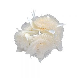 Florecilla organza plisada crudo