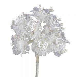 Florecillas lazo y pistilos blanco
