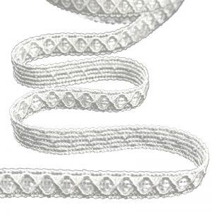 Galón Duero rayón 1 2 cm blanco