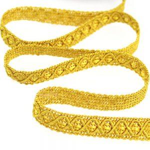 Galón Duero rayón 1 2 cm oro