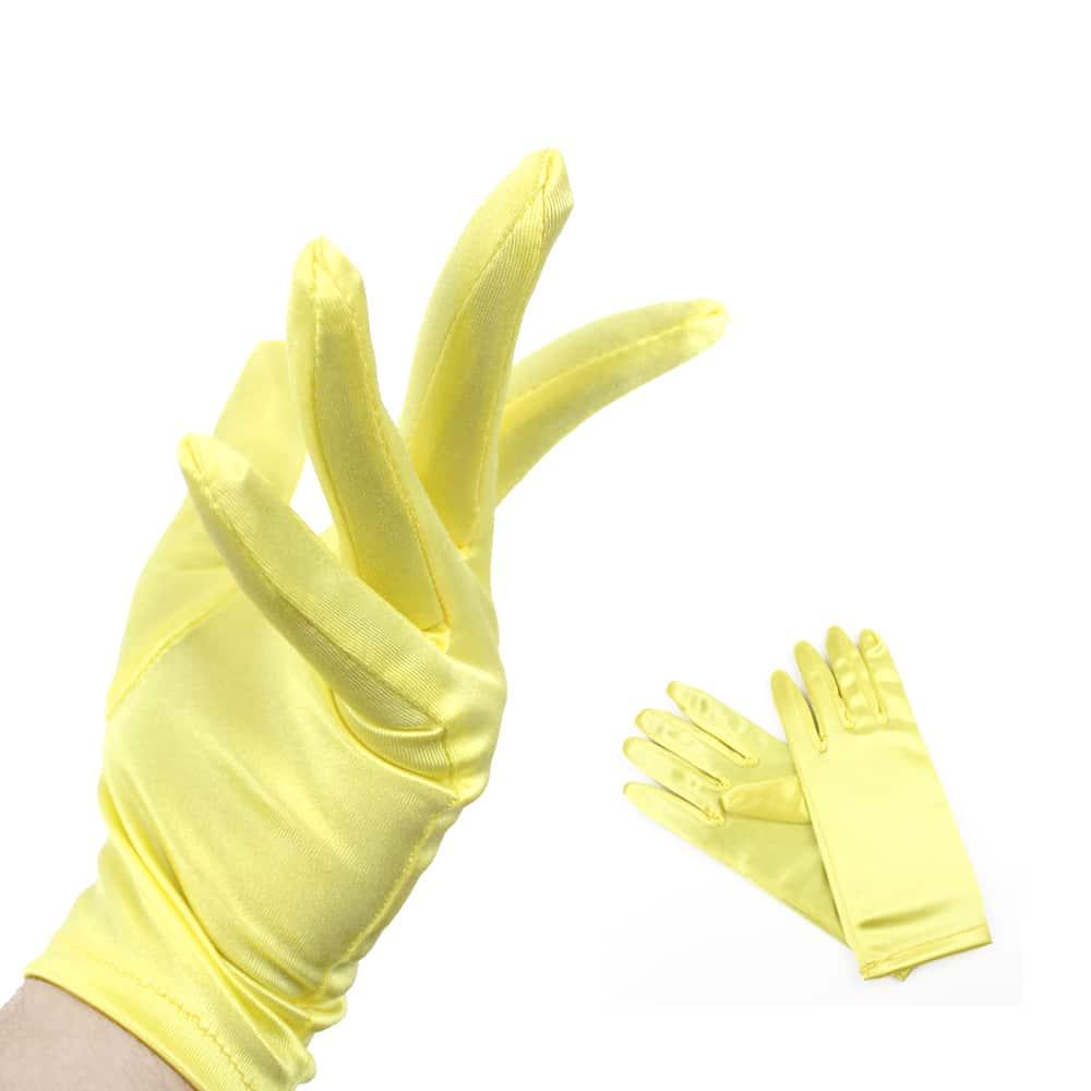 Guantes Raso cortos amarillo