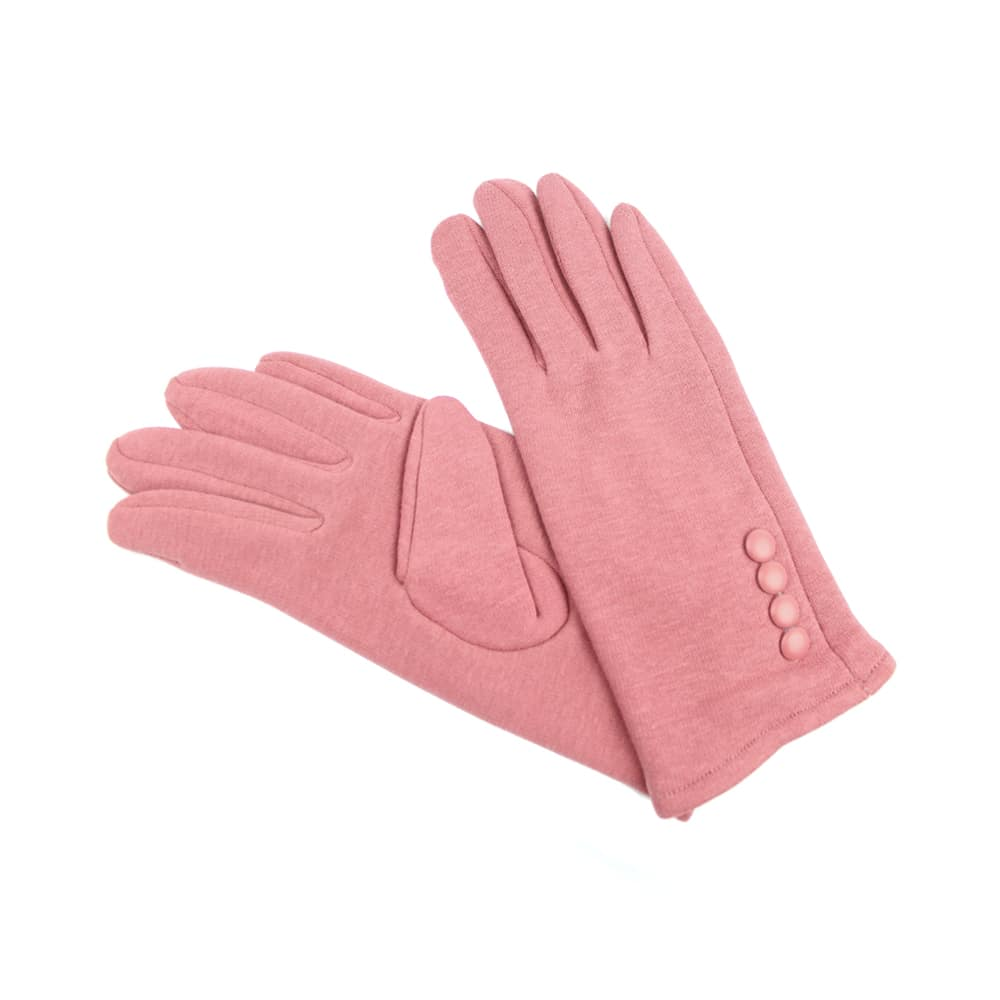 Guantes de algodón con botones rosa maquillaje