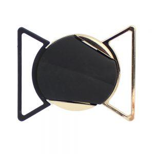 Hebilla 2 piezas circular 6 cm