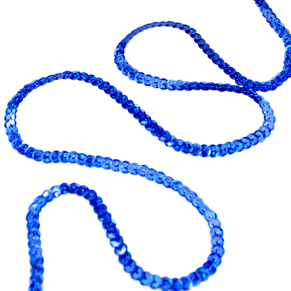 Hilo de lentejuelas azul AZAFATA