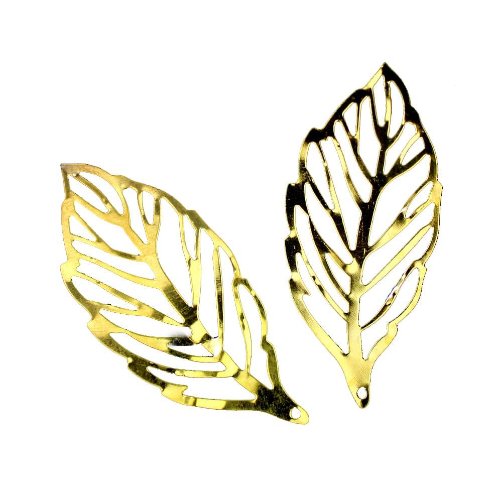 Hoja colgante acero oro
