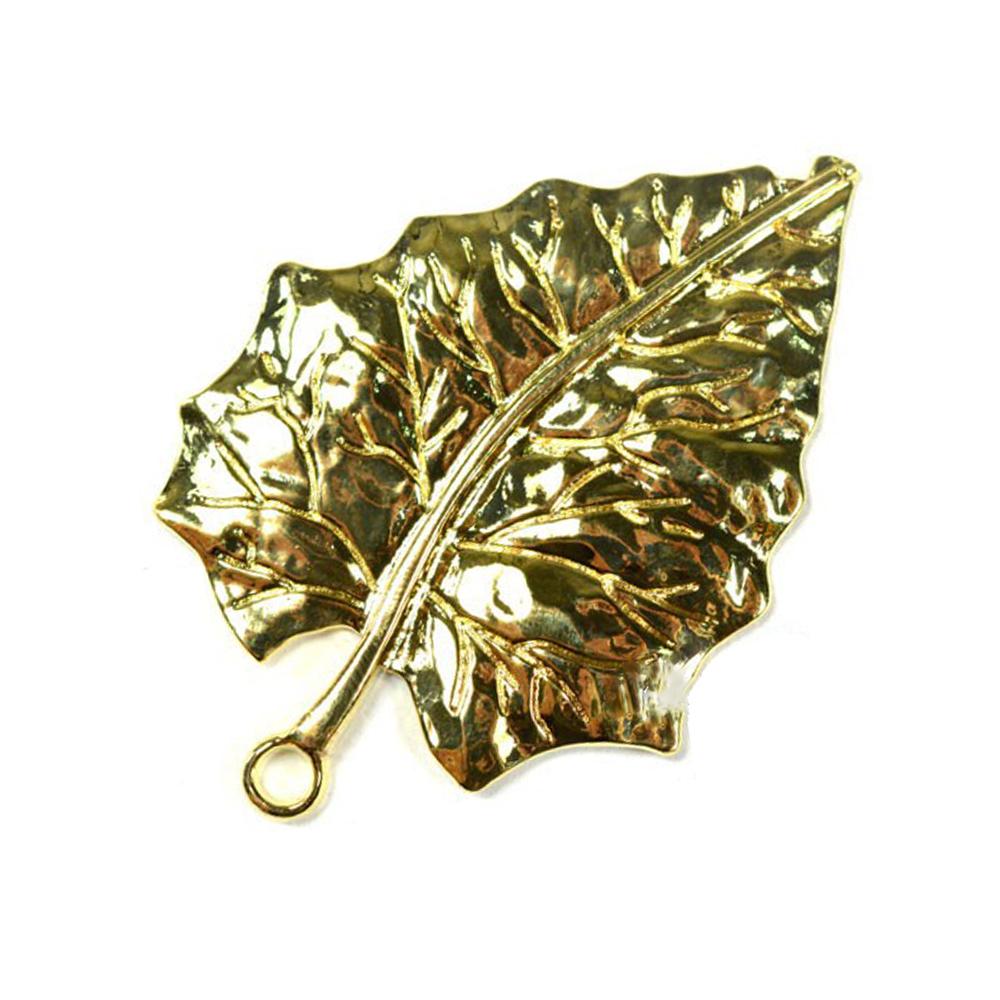Hoja metal 7×5 cm oro viejo