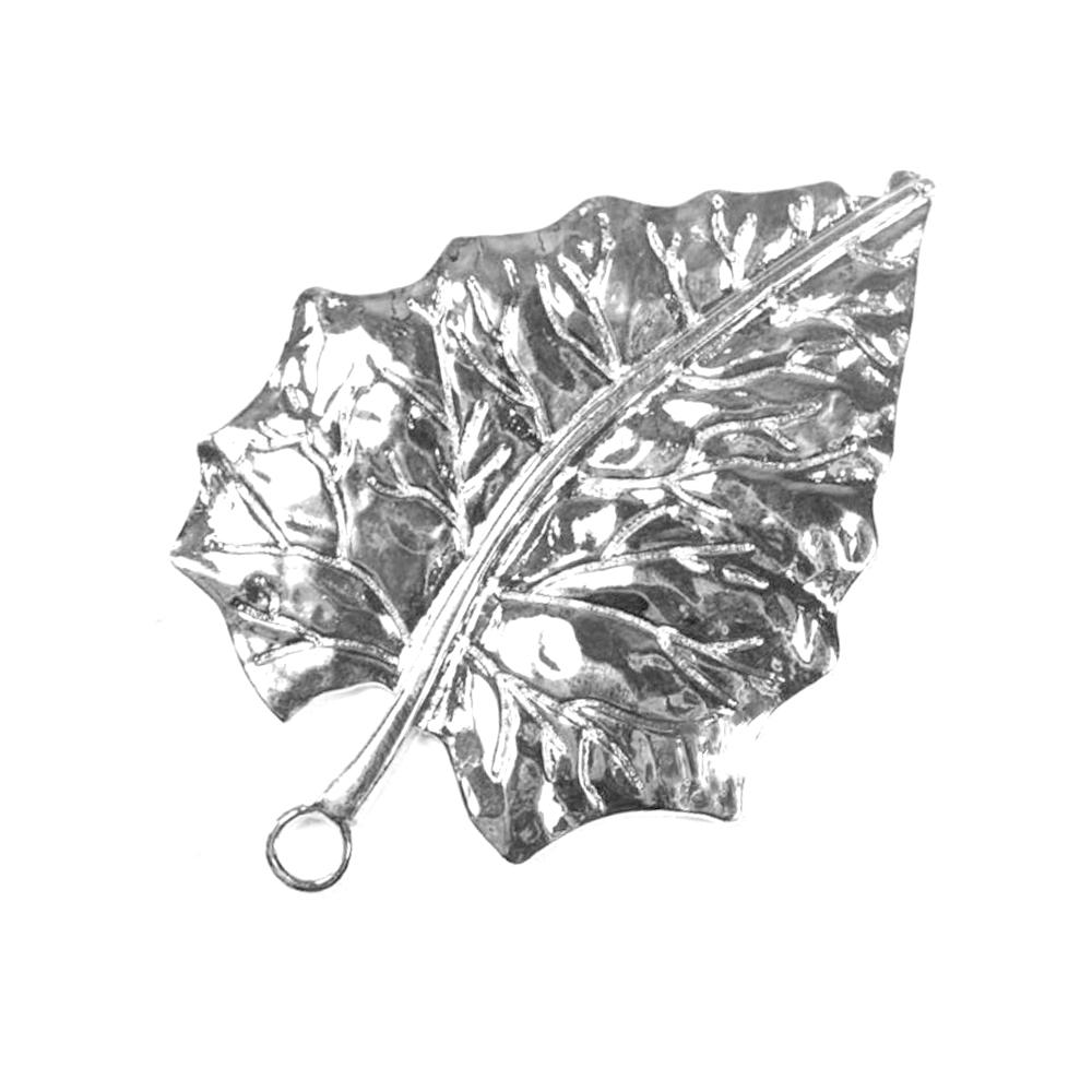 Hoja metal 7×5 cm plata