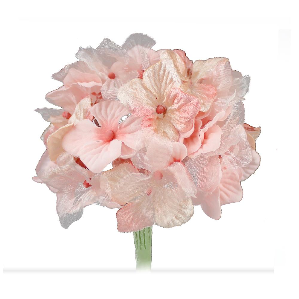 Hortensia Hydrangea 10 cm rosa y salmón
