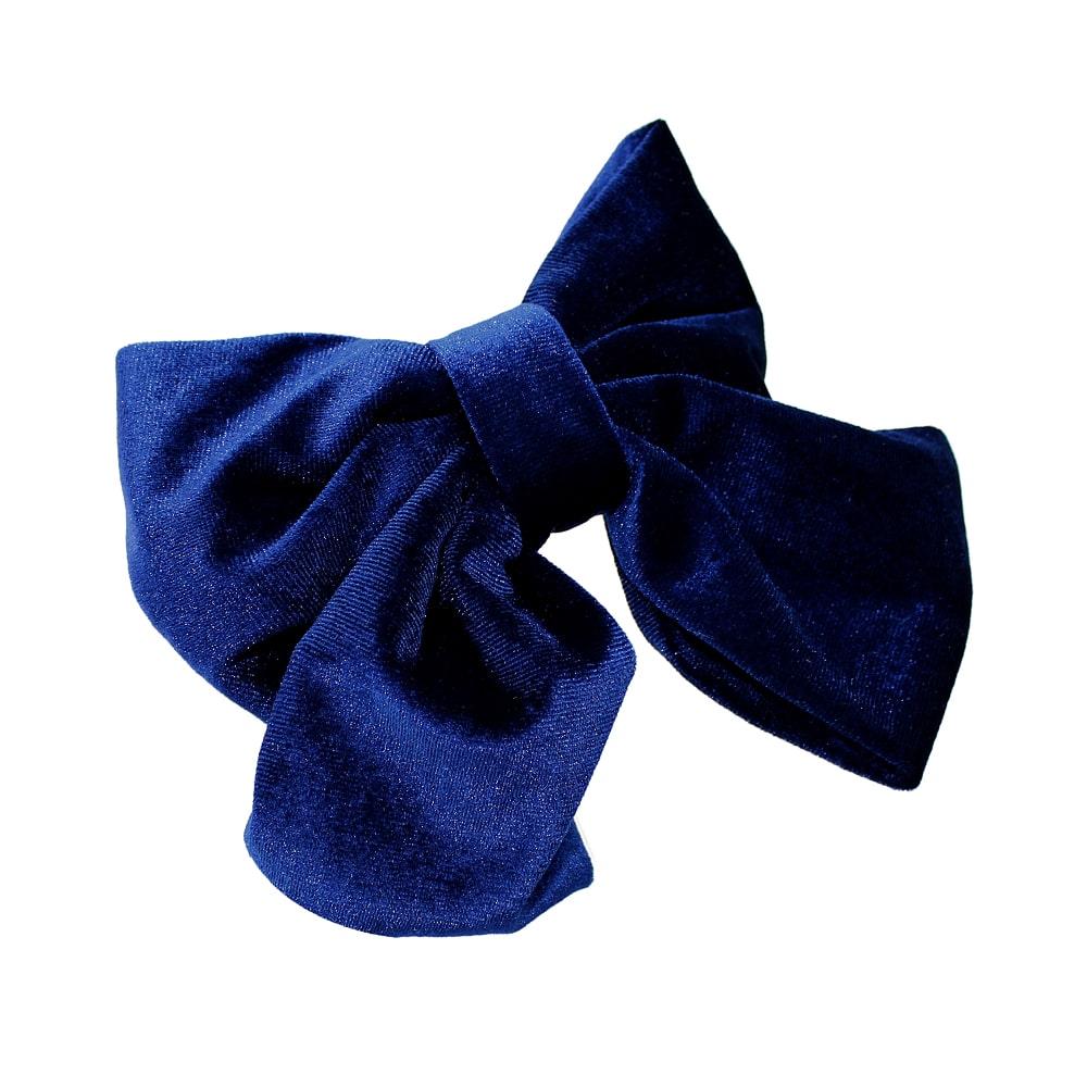 Lazo de terciopelo azul marino