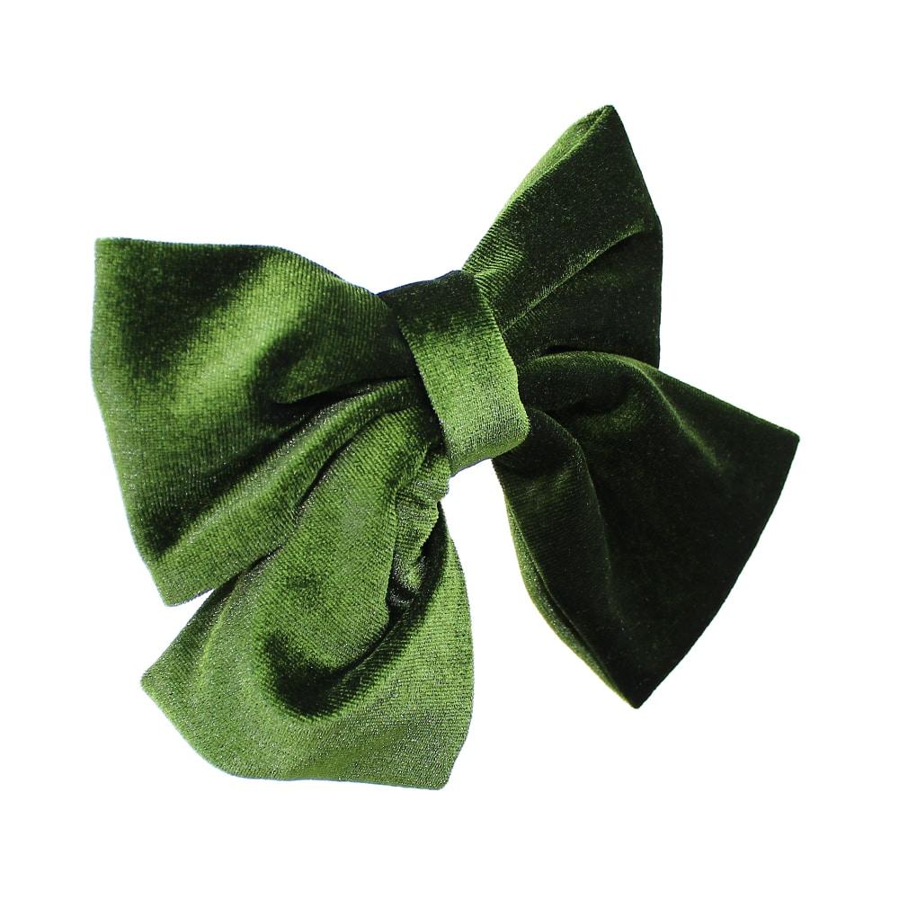 Lazo de terciopelo verde oliva