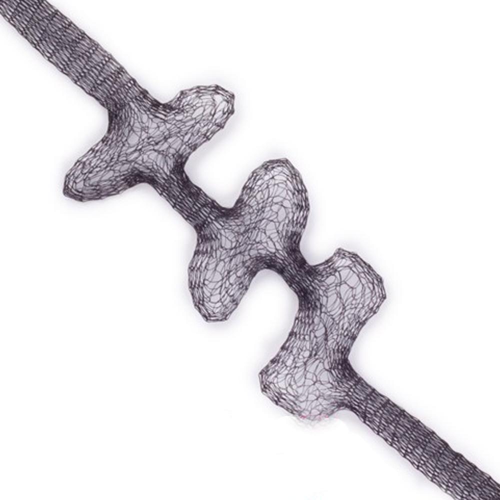 Malla metálica tubular negro
