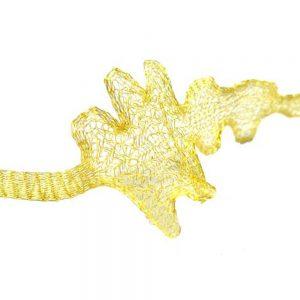 Malla metálica tubular oro