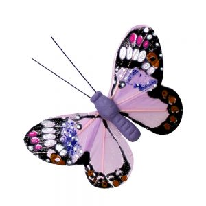 Mariposa Plumas 11 cm lila