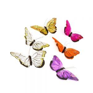 Mariposa de plumas 10 cm portada