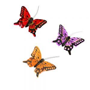 Mariposa de plumas 8 cm portada