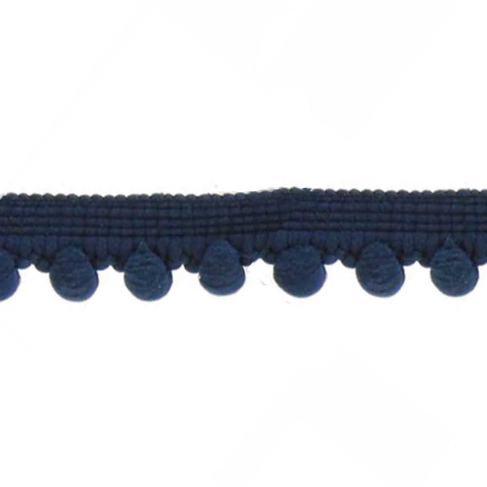 Mercería borlas poliamida 1 5 cm azul marino