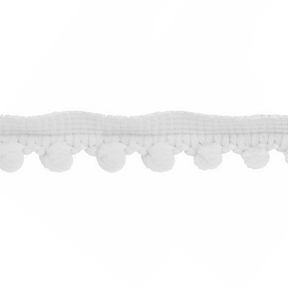 Mercería borlas poliamida 1 5 cm blanco