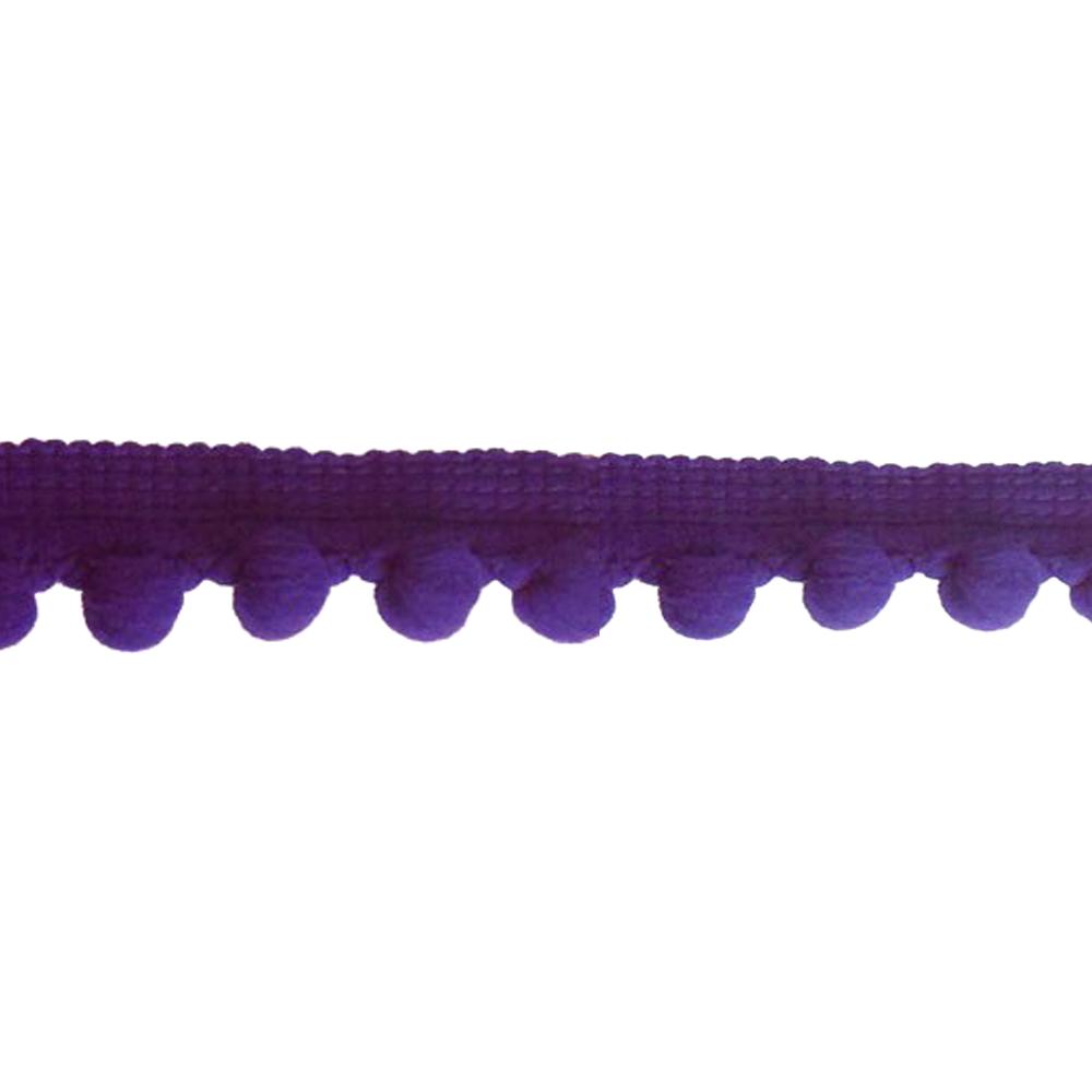Mercería borlas poliamida 1 5 cm morado