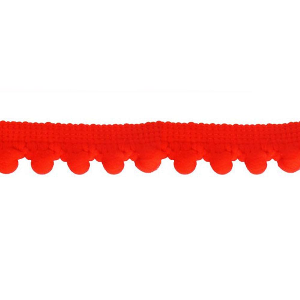 Mercería borlas poliamida 1 5 cm rojo