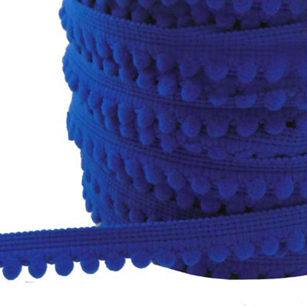 Merceria borlas pequeñas 1 2 CM azul klein