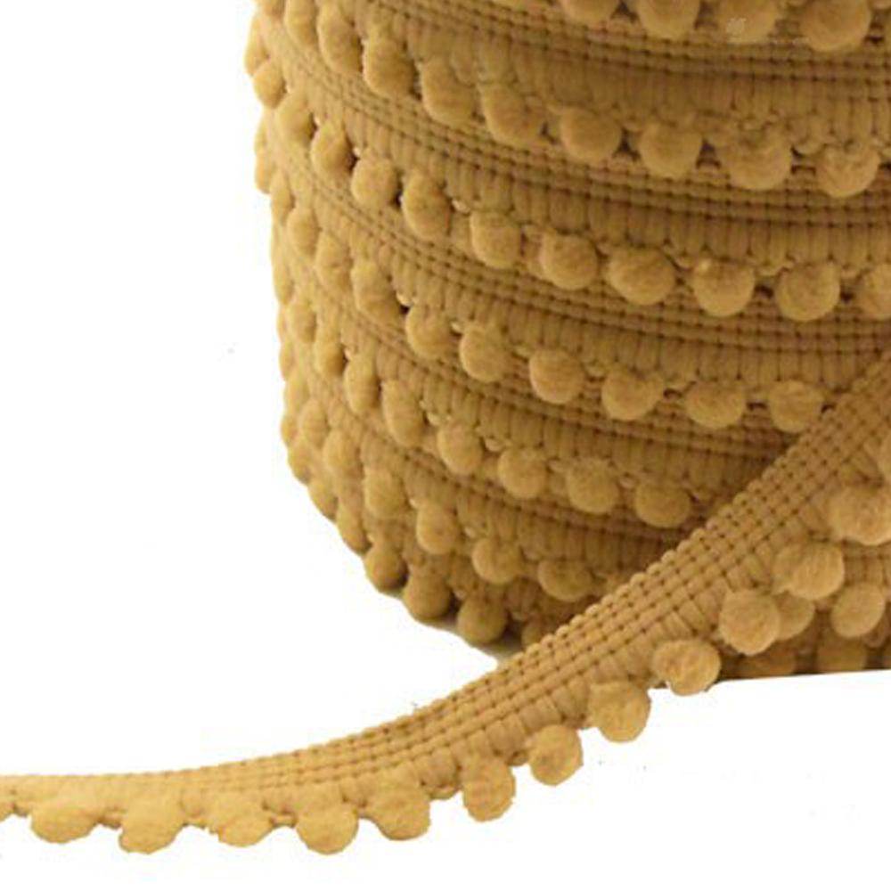 Merceria borlas pequeñas 1 2 CM camel